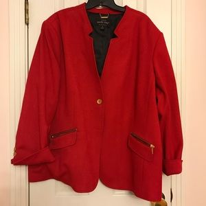 3X red lined jacket.